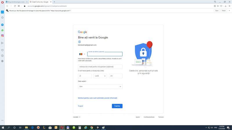 nr telefon gmail