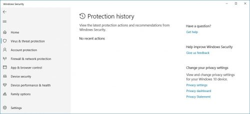 protection history