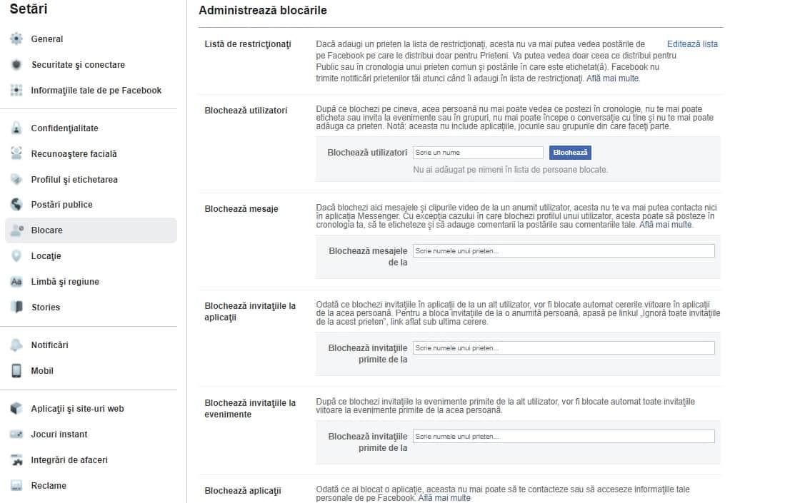 Blocare profil Facebook – Faceti totul privat