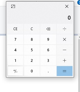 calculator on top