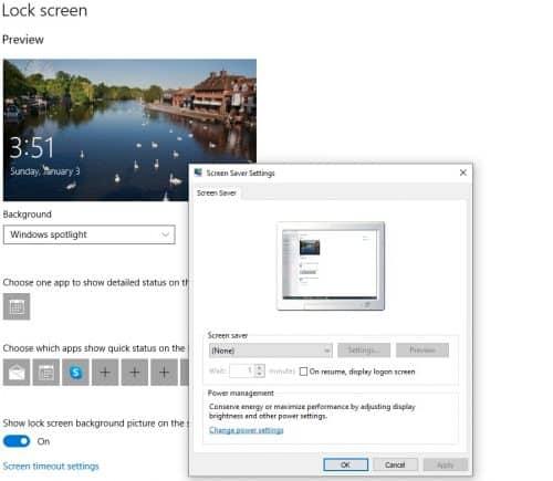select screensaver-windows 10