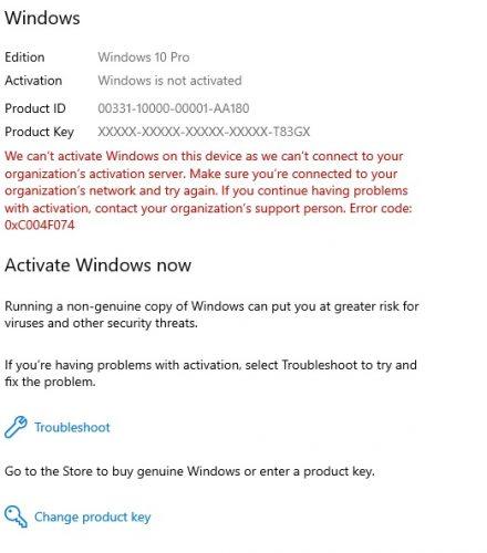 activare windows 10