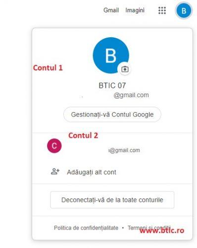 conturi multiple google gmail